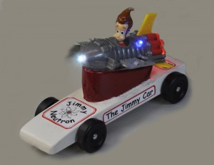 The Jimmy Neutron LED Pinewood Derby Car